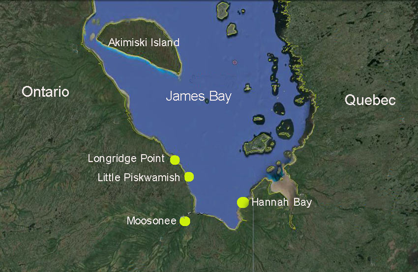 Canada Map James Bay